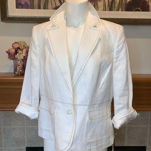 LINEN Size 12 light cream Blazer